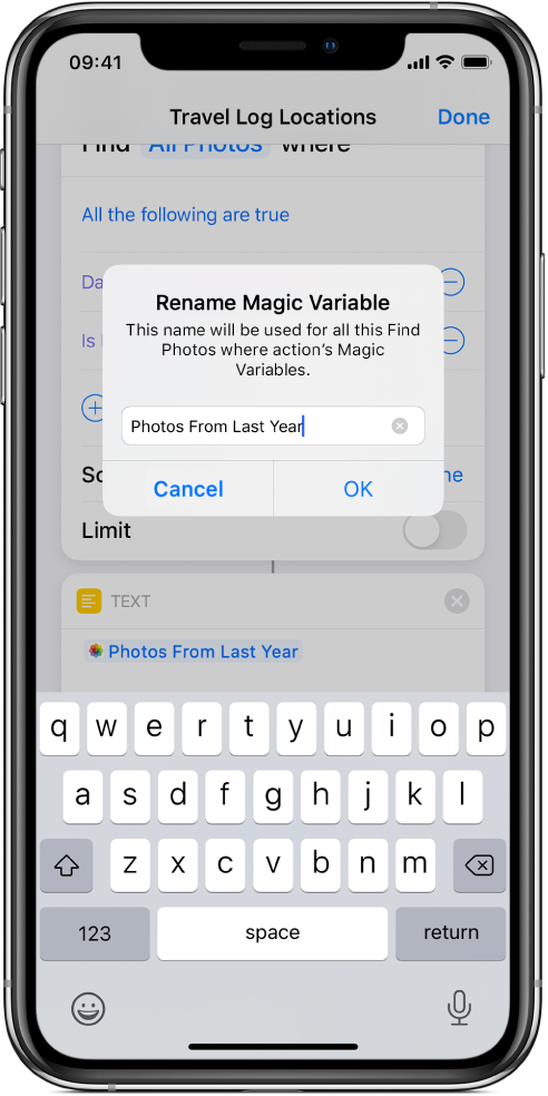 Rename Magic Variable dialogue.