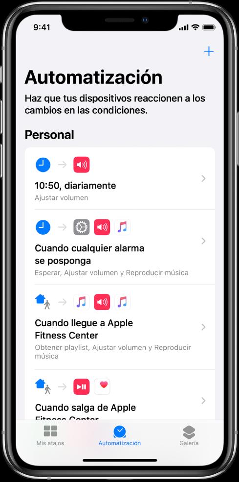Lista de automatizaciones personales en Atajos