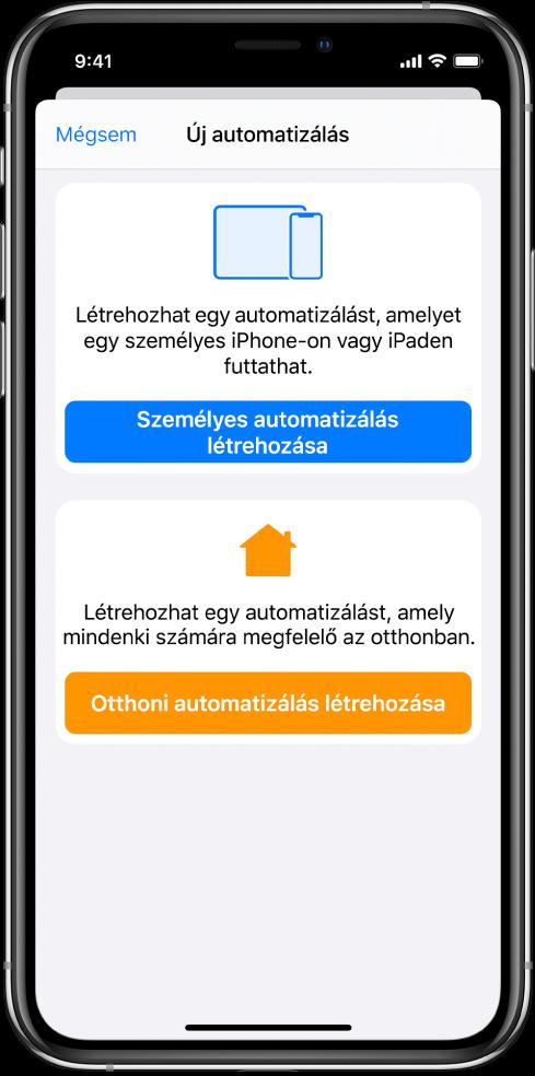 Új automatizálás, amikor már van automatizálás a Parancsok alkalmazásban.