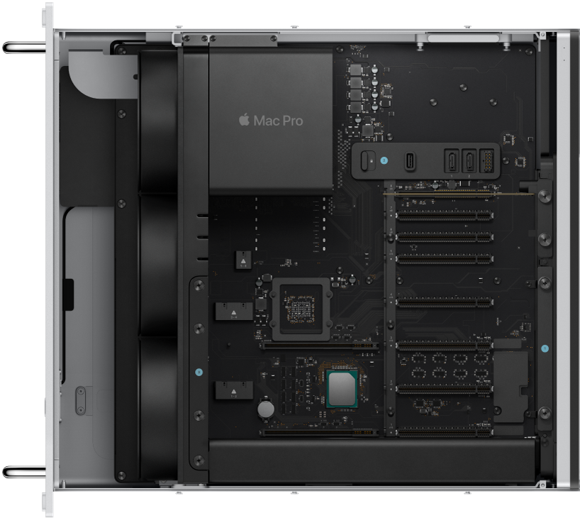 Mac Pro-rack set indefra.