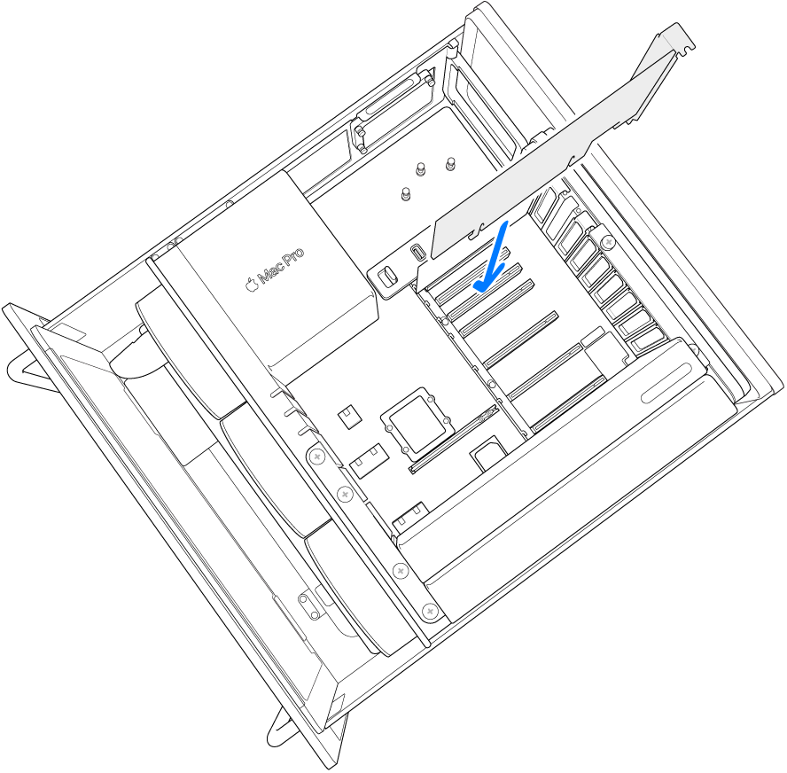 Die Karte wird in den Steckplatz eingesetzt.