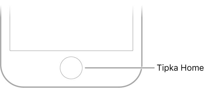 Tipka Home na dnu iPhone uređaja.