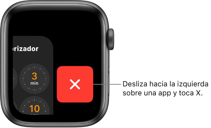 El Dock, después de deslizar la app a la izquierda y con el botón X a la derecha.