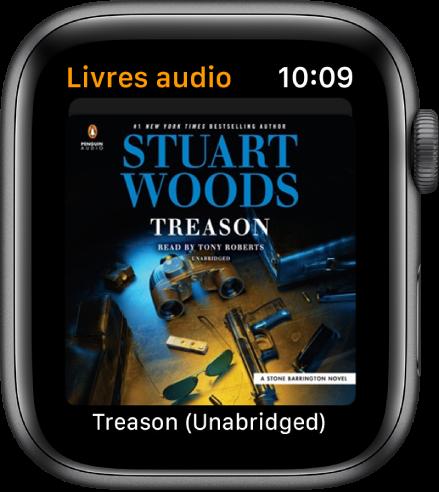 La couverture d'un livre audio.