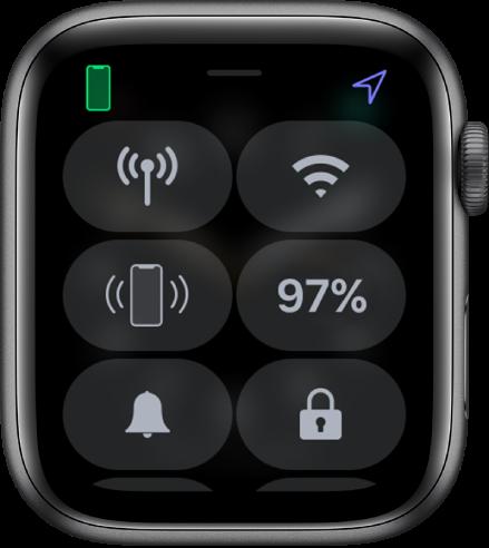 Pusat Kontrol dengan ikon Kunci di pojok kanan bawah.