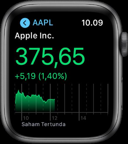 Informasi mengenai saham di app Saham.
