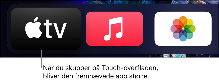 Valgt app på hjemmeskærm