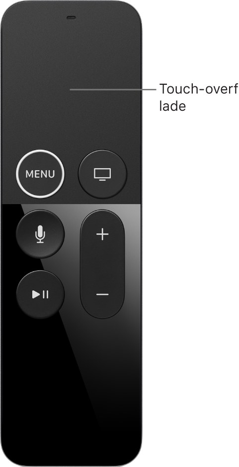 Fjernbetjening med Touch-overfladen