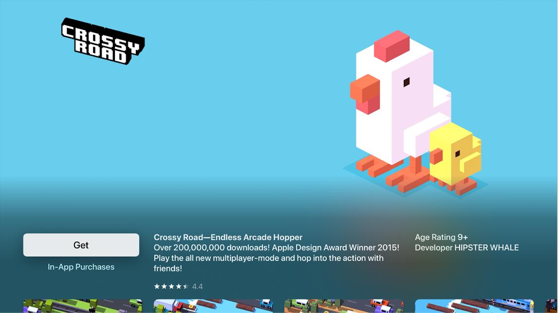 Az App Store áruház oldala egy alkalmazás részleteivel