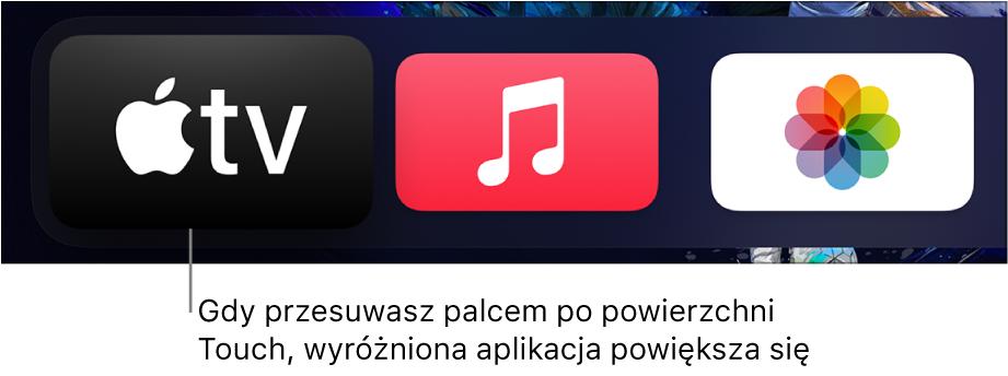 Zaznaczona aplikacja na ekranie początkowym
