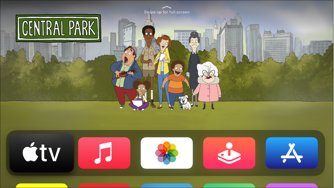 Aplicação Apple TV no ecrã principal