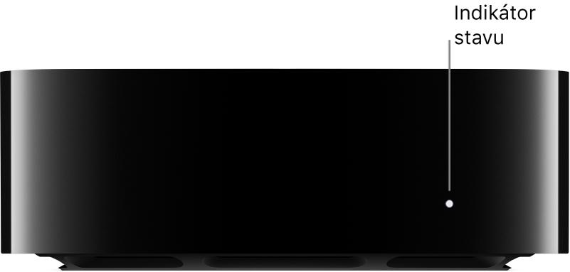 Apple TV skontrolkou stavu