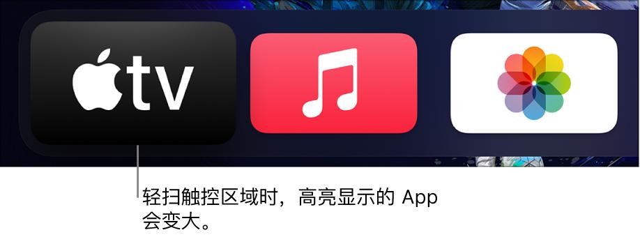 主屏幕上选定的 App