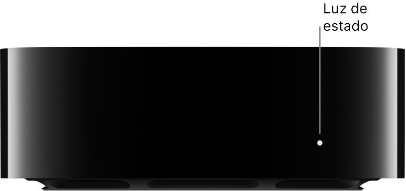 Apple TV com chamada para a luz de estado