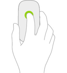 An illustration symbolizing a click on a mouse.