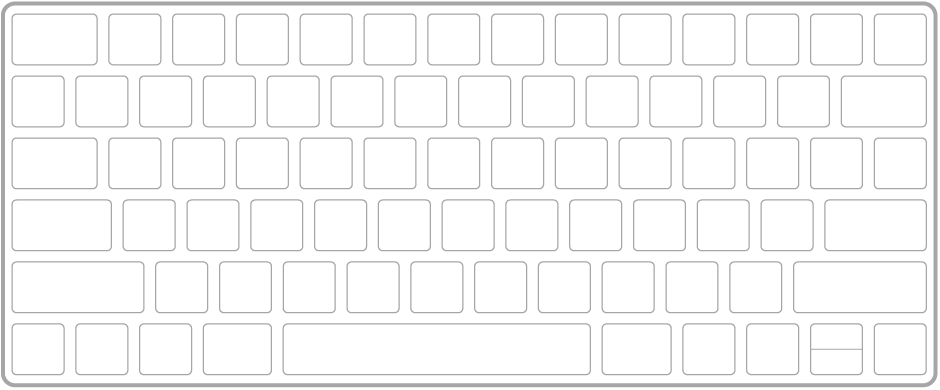 Ilustración de un teclado Magic Keyboard.