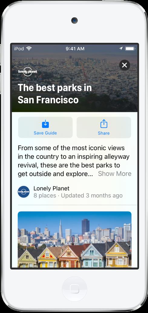 サンフランシスコの公園の地図。