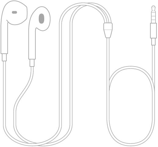 Os EarPods fornecidos com o iPodtouch.