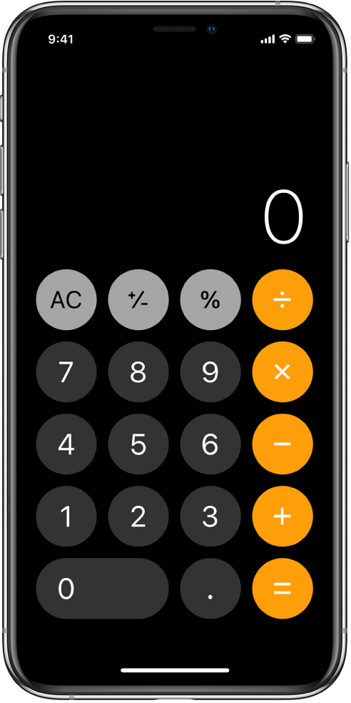 The standard calculator with basic arithmetic functions.