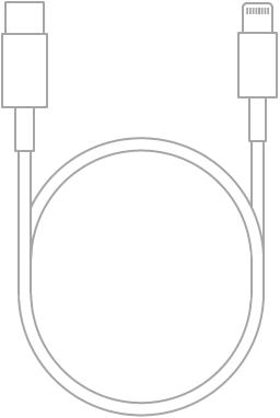 Kablloja USB-C-Lightning.