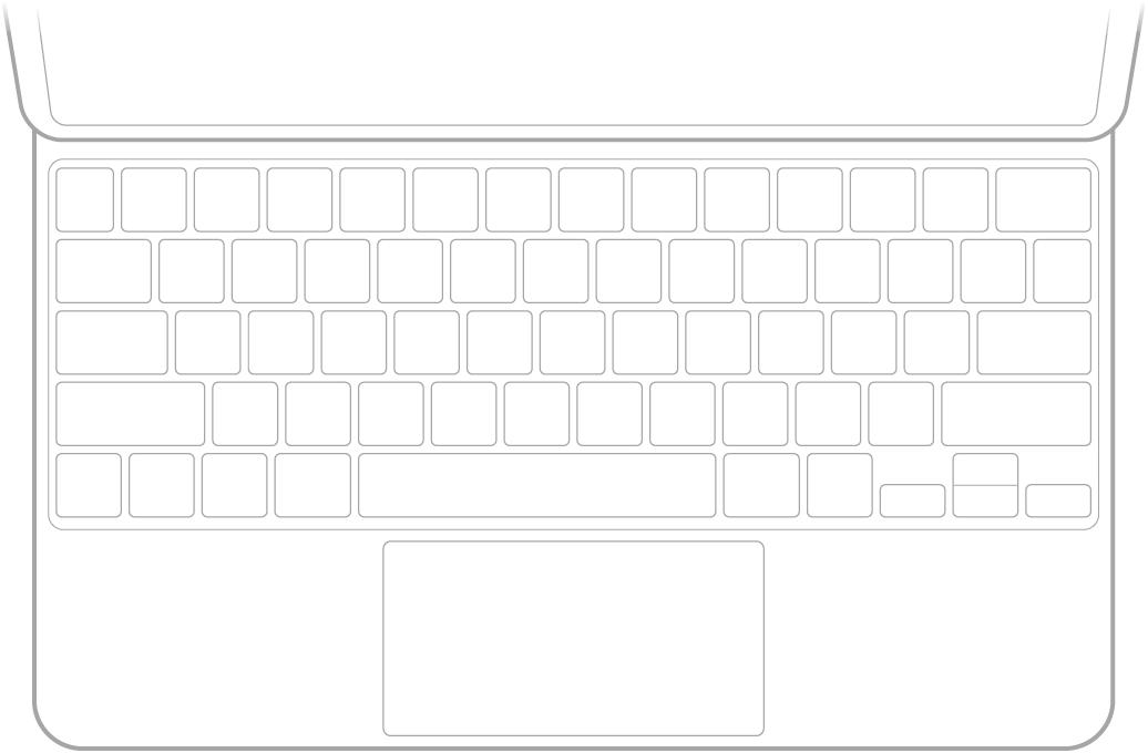 En illustration af Magic Keyboard til iPad.