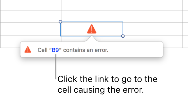 A cell error link.