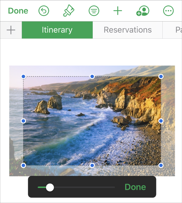 Picture showing how to use a mask to crop a photo.