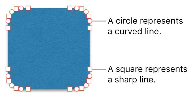 A shape with editable points.