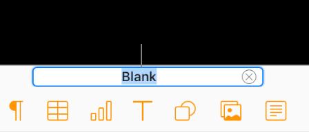 """在编辑器中选中了文稿顶部的文稿名称""""空白""""。"""