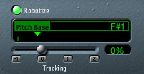 """Die Steuerungen """"Robotize"""" für Vocal Transformer"""