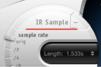 Die IR-Sample-Steuerung von Space Designer