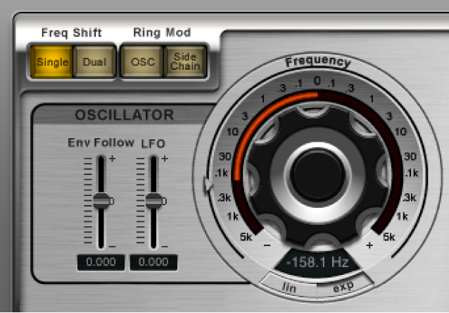 The Ringshifter Oscillator controls.