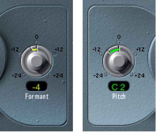 The Vocal Transformer Formant and Pitch controls.