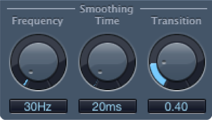 The Denoiser Smoothing controls.