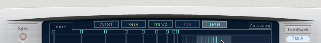 The Delay Designer view buttons.