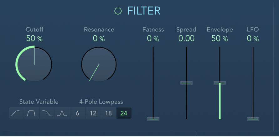 The AutoFilter Filter controls.