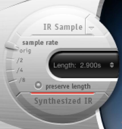 Controles de respuestas a impulsos de SpaceDesigner.