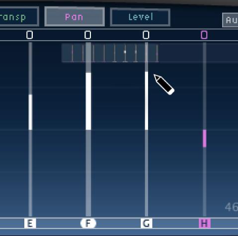 Pantalla Tap de DelayDesigner, mostrando la edición de varias líneas de retardo.