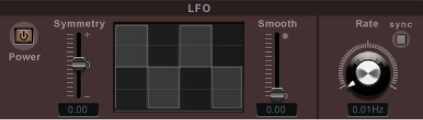 Controles de modulación de LFO de Ringshifter.