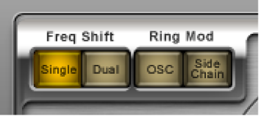 Botones de modo de Ringshifter.