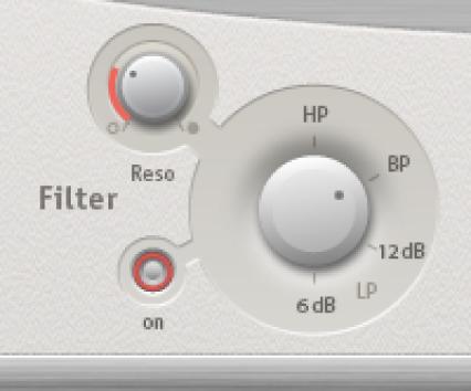Commandes principales de filtrage de SpaceDesigner.