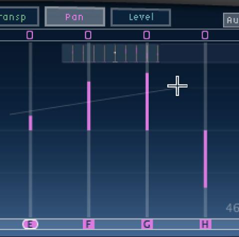 Écran Tap de Delay Designer avec plusieurs taps en cours d'alignement.