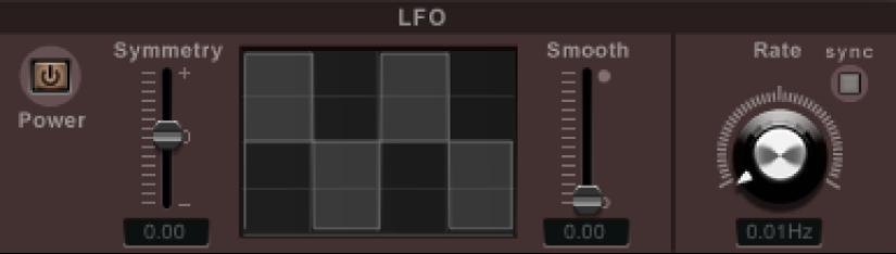 Commandes de modulation du LFO de Ringshifter.