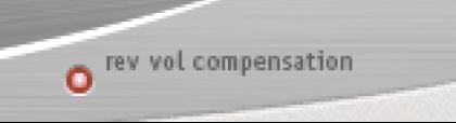 Space Designerの「Rev Vol Compensation」ボタン。