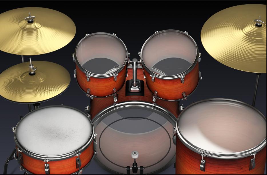 Figure. Acoustic drum kit.