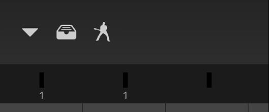 Figure. Level meter strip under the control bar.
