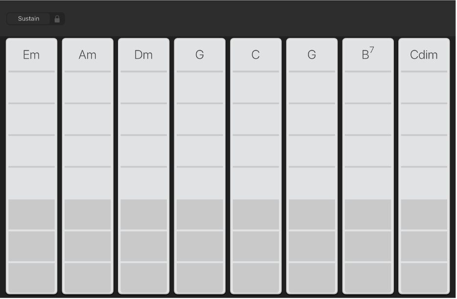 Figure. Keyboard Chord Strips.