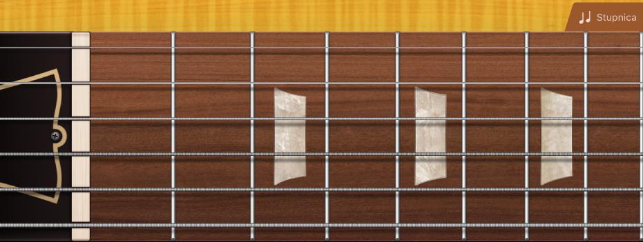 Obrázok. Hmatník gitary.