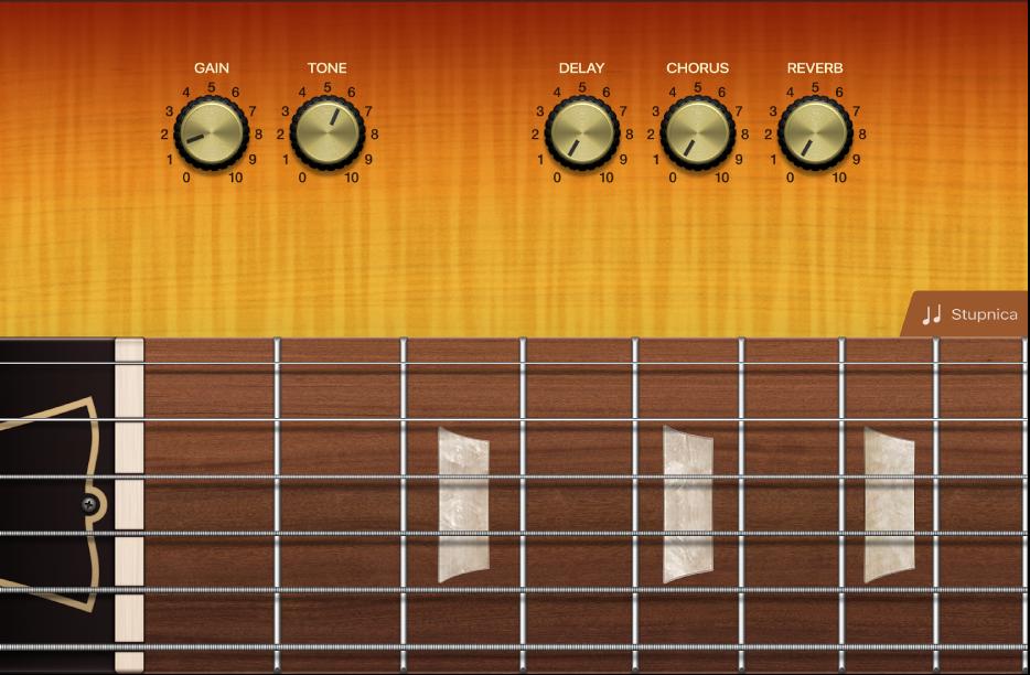 Obrázok. Dotykový nástroj Gitara.