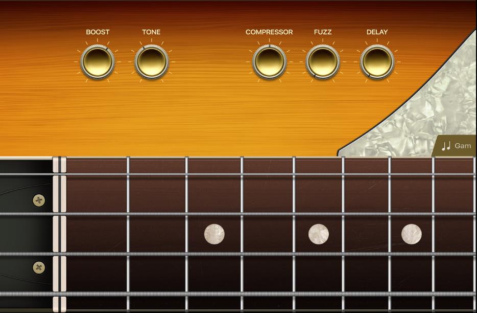 Hình. Nhạc cụ cảm ứng Ghi-ta bass.